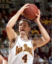 Bobby Lazor of Norwich High School starred at Arizona State in the late 1990s after transferring from Syracuse University.