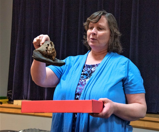 A participant in Retro Roundtable last year talks about a child's shoe she found in the framework of her historic home.