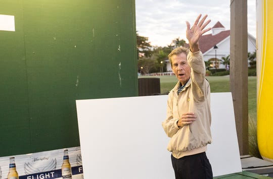 Rich Lamb, the long time director of golf at Fort Myers Country Club and Yuengling tournament director waves to the crowd after the tournament on Sunday March, 1, 2020.