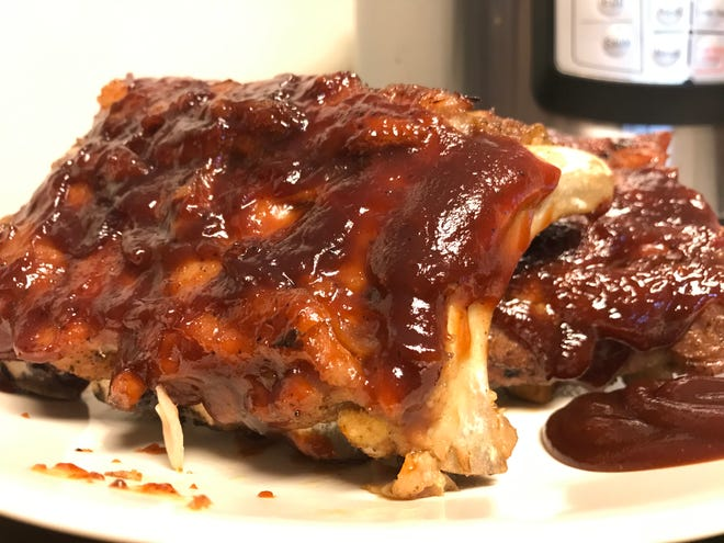 Ribs were cooked to perfection in the Instant Pot.
