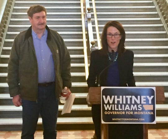 """Milo """"Buzz"""" Mattelin of Culbertson joins the Whitney Williams campaign for governor Monday as her pick for lieutenant governor."""