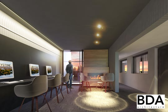 The Gibson Hotel will feature a business lounge overlooking Central Avenue.