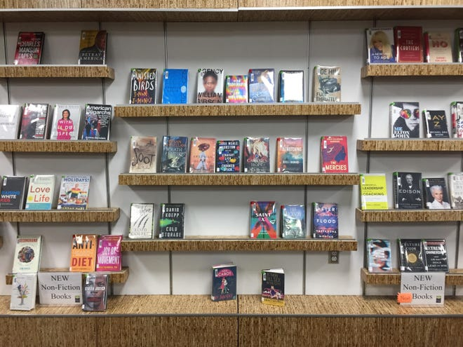 New books are on display at the North Liberty Community Library on March 2, 2020.