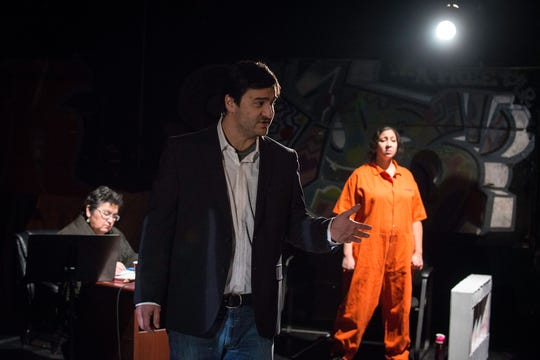 """An image from the original performance of """"Reconciliation"""" in 2014 following its commissioning by the Pangea World Theater."""