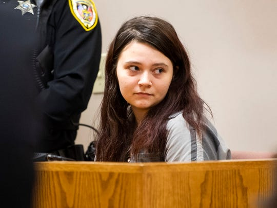 Megan Boswell appears in Sullivan County General Sessions Court in Bristol, Tenn., on Monday, March 2, 2020.