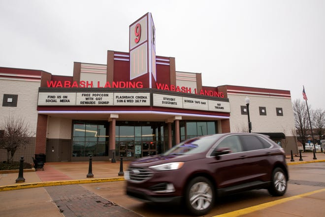 Wabash Landing 9, is one of three local Goodrich Quality Theaters, Monday, March 2, 2020 in West Lafayette.