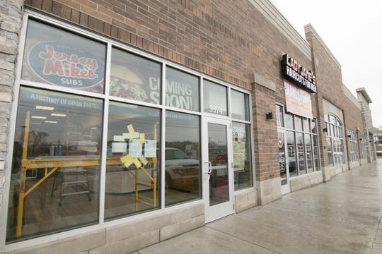 A number of businesses will occupy the new building, shown Monday, March 2, 2020, erected on the former location of Simply Fresh Market.