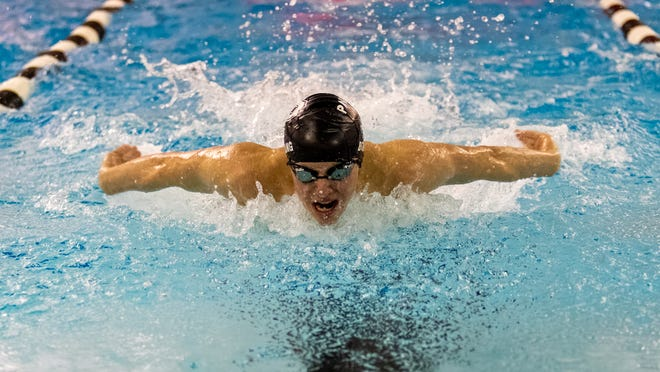 Pinckney's Erik Bolang had a hand in three school records in the SEC White swimming and diving meet.