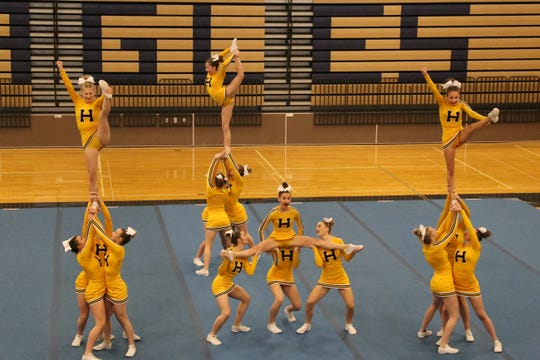 Hartland took third in the regional competitive cheer meet to qualify for the state meet.