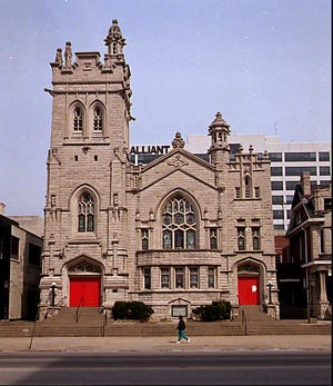 A photo of St. Paul's Evangelical Church taken on March 14, 1996.