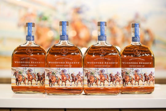 The Woodford Reserve 2020 Kentucky Derby bottles for an unveiling at Stoneware & Company Monday morning. A bottle release party will be March 21 at Stoneware & Company to benefit the Backside Learning Center at Churchill Downs. March 2, 2020