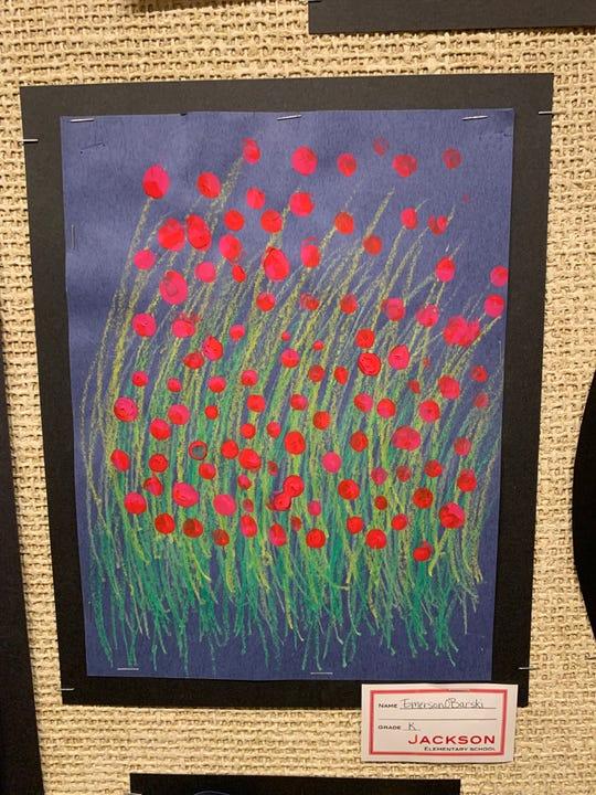 Youth Art Month Mayor's Choice Award winning work by Emerson O'Barski of Jackson Elementary School.