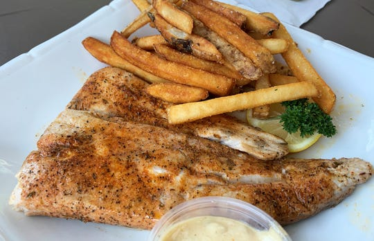 Mahi Mahi and French Fries from The Crabby Lady, Goodland.