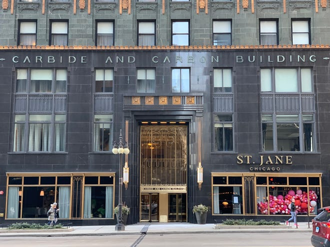 The St. Jane hotel is housed in Chicago's Carbide and Carbon Building, which was constructed in 1929.