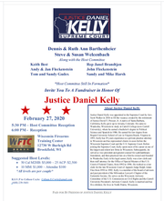 A fundraising invitation from Supreme Court Justice Dan Kelly's campaign at a Brookfield shooting range on Feb. 27, a day after the Molson Coors shooting.