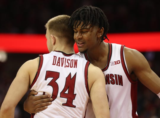 Brad Davison, Aleem Ford and the Badgers host Northwestern on Wednesday and play at Indiana on Saturday.
