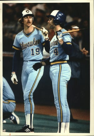 Robin Yount, left, and Paul Molitor are the Brewers' two Hall of Famers.