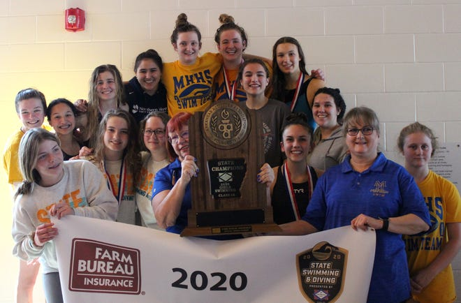 The Mountain Home Lady Bombers won the Class 5A State swimming and diving state championship on Saturday at Russellville.