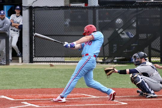 Steele Netterville blasted two of Louisiana Tech's seven home runs in a 26-3 win Sunday.