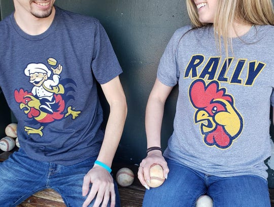 Year of the Chicken baker and rally chicken shirts are available for Biscuits fans.