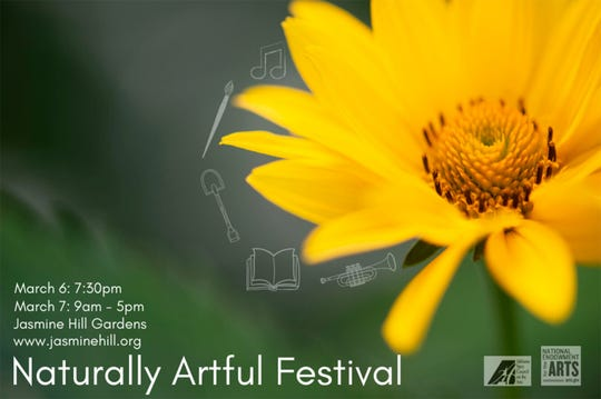 The Naturally Artful Festival is Friday and Saturday at Jasmine Hill Gardens.