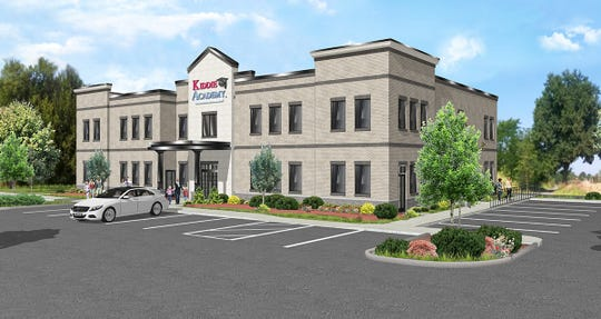 A rendering for a new Kiddie Academy child care center on Indian Lake Boulevard in Hendersonville.