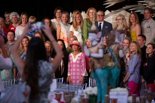 Designers that participated in The League Club's annual Naples Tables, pose for a group photo before the start of the event, Monday, March 2, 2020, at the Ritz Carlton Tiburon Golf Resort in North Naples.