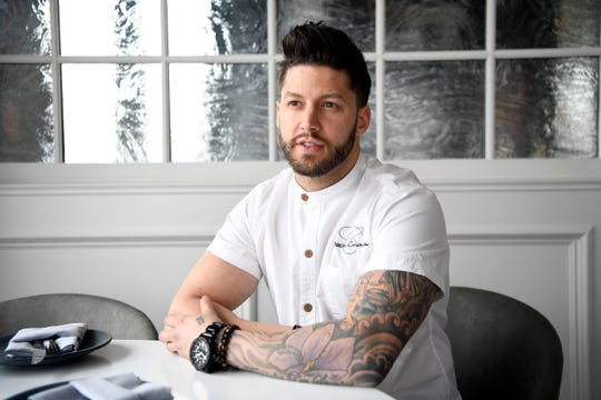 Chef Robbie Felice is a James Beard 2020 nominee. Photographed in his restaurant, Osteria Crescendo, on Thursday, Feb. 27, 2020, in Westwood.