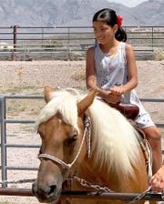Pony rides are one of the many popular children's activities.