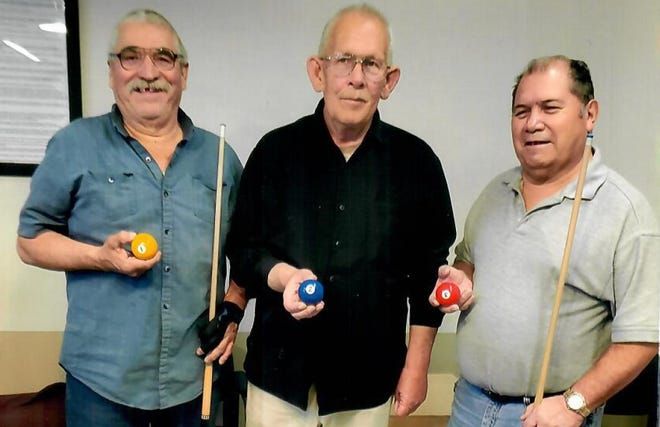 Pictured from left to right, Teddy Sedillo, first place; Fred Harris, second place; and JR Guevara, third place winners.