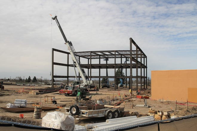 Progress on Gerald Champion Regional Medical Center's new medical office complex that is part of a larger expansion project at the hospital.