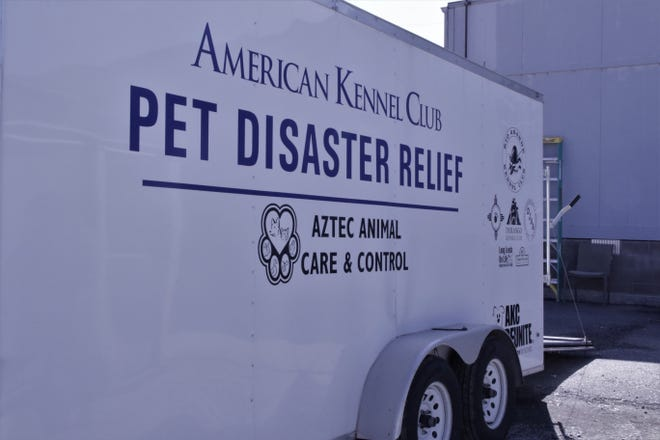 The new pet disaster relief trailer is pictured, Monday, March 2, 2020, at the Aztec Animal Shelter.