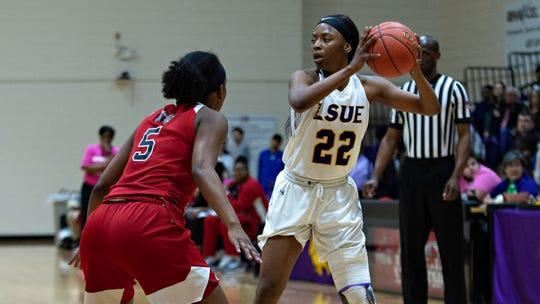 Miya McKinney of LSUE is shown during a recent game. The Bengals will face Southwest Mississippi in the Region 23 Tournament on Wednesday.