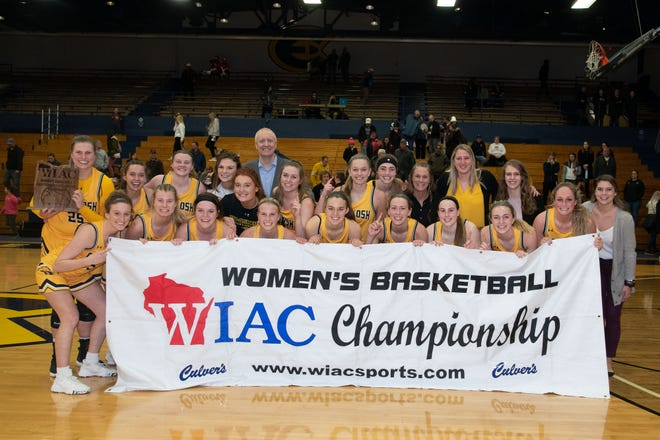 The UW-Oshkosh women's basketball team won the WIAC championship game Saturday with a 52-50 win over UW-Eau Claire and clinched an NCAA Division III Championship berth.