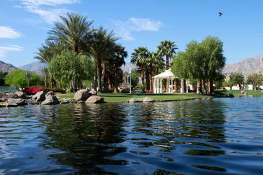 La Quinta's Civic Center park with its lake and view of the Santa Rosa Mountains is a popular venue among artists and will be home to the La Quinta Art Celebration, March 5-8, 2020.