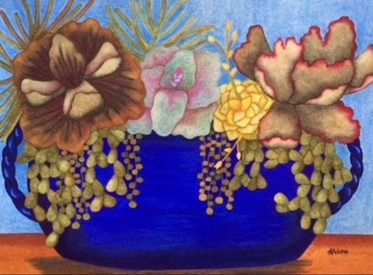Watercolor artist Leslee Adams, of Cathedral City, is one of 220 juried artists participating in the inaugural La Quinta Art Celebration, being held March 5-8, 2020, at Civic Center Campus park in La Quinta.