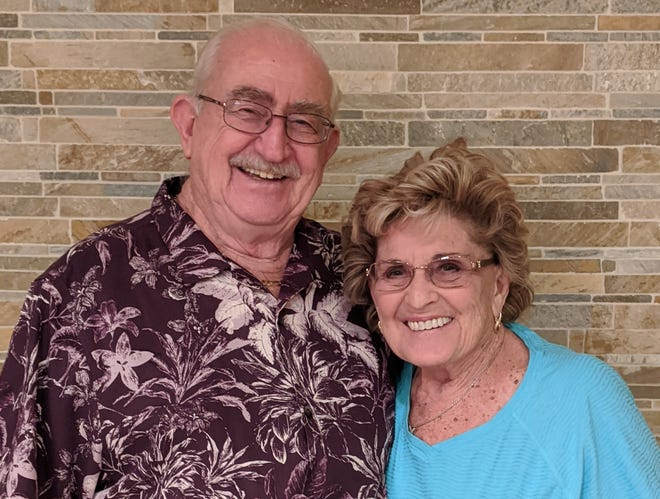 Joe and Pat Manhart, photographed in January 2020.