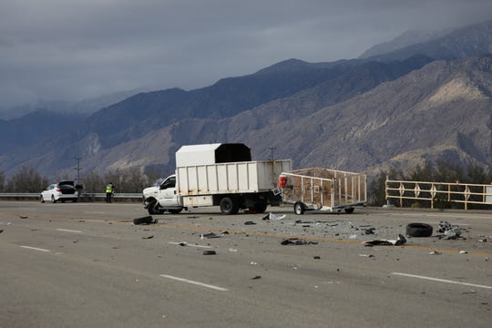 Multiple vehicles were involved in a collision in Cathedral City on Friday, Feb. 26, 2020.