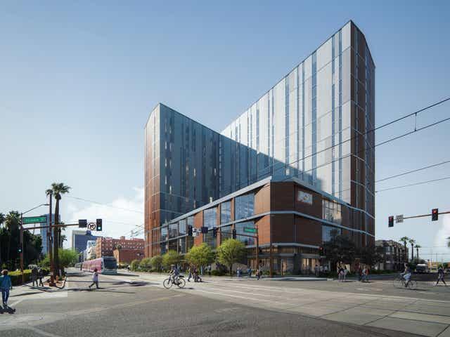 Asu Begins Construction On 16 Story Downtown Phoenix Dorm