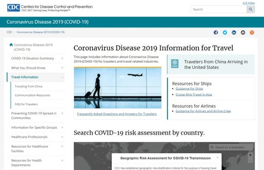 Check the Centers for Disease Control and Prevention's coronavirus website. It has information about the disease and country-specific advisories.