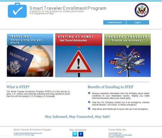The State Department's Smart Traveler Enrollment Program sends you travel alerts and enables an embassy to get in touch with you in case of an emergency.
