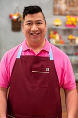 """Chef Aris Rodriguez competes on Season 6 of """"Spring Baking Championship."""" The show airs March 9, 2020."""