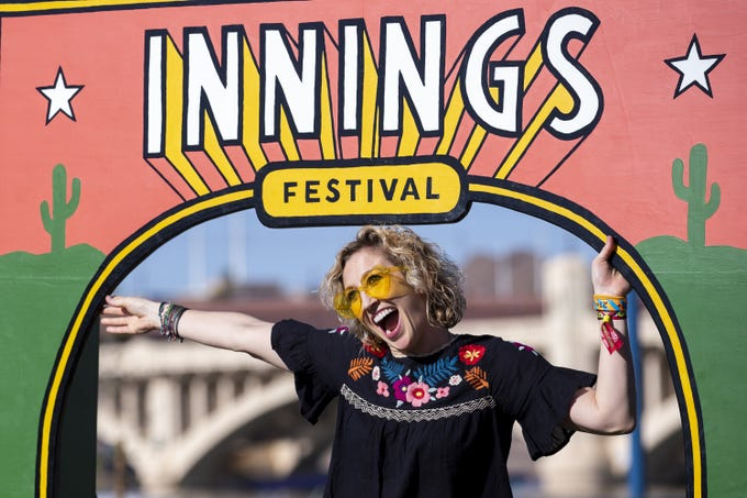 Rebekah Baker poses for a photo during Innings Festival on March 1, 2020, at Tempe Beach Park in Tempe, Ariz.