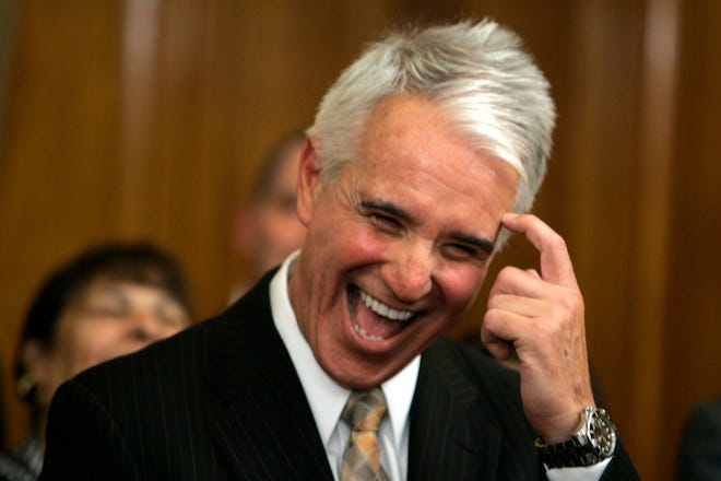 George Gascon laughs during his introduction as San Francisco's new police chief on June 17, 2009. Gascon is now running for Los Angeles district attorney.