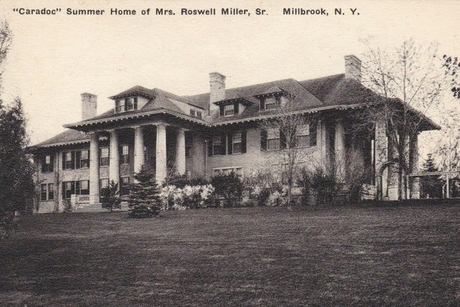 Caradoc is a 20-room mansion that was built in 1902 as a summer home for Roswell Miller Sr, chairman of the board of the Chicago, Milwaukee and St. Paul Railroad. Having outlived her husband by 42 years, Miller's widow, Mary Louise became very involved with numerous Dutchess County initiatives through her death in 1955.