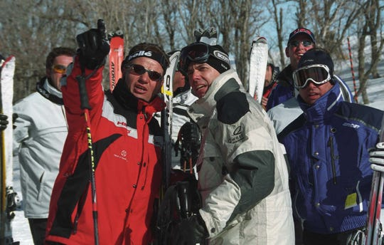 published cutline: `We start with suicide chute' Franz Weber jokes as he points out a route to a group of skiers before taking them on a tour of Snowbasin ski area in this RGJ file photo.