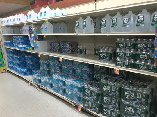 Bottled water restocking needed at Tops in Brighton