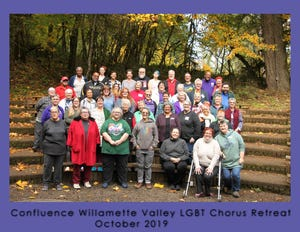The Confluence Willamette Valley LGBT Chorus.