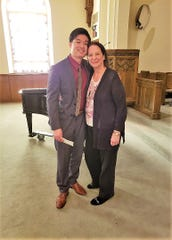 Mary Jacobs Smith Singer of the Year Competition, presented by Shreveport Opera, will be Saturday, March 7 and Sunday, March 8 in the Chapel at First Presbyterian Church, located at 900 Jordan St. in Shreveport. Pictured: (left) Duke Kim, tenor, 2019 Singer of the Year winner, and Mary N. Smith, event sponsor