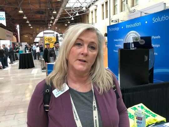 Dedee Culley, a nurse from Republic, Mo., attended the MoCannBizCon+Expo in St. Louis on Monday, March 2, 2020. She owns 2 Leaf Nurses, an education and patient advocacy venture.